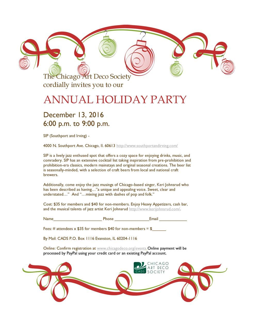 CADS Annual Holiday Party 2016