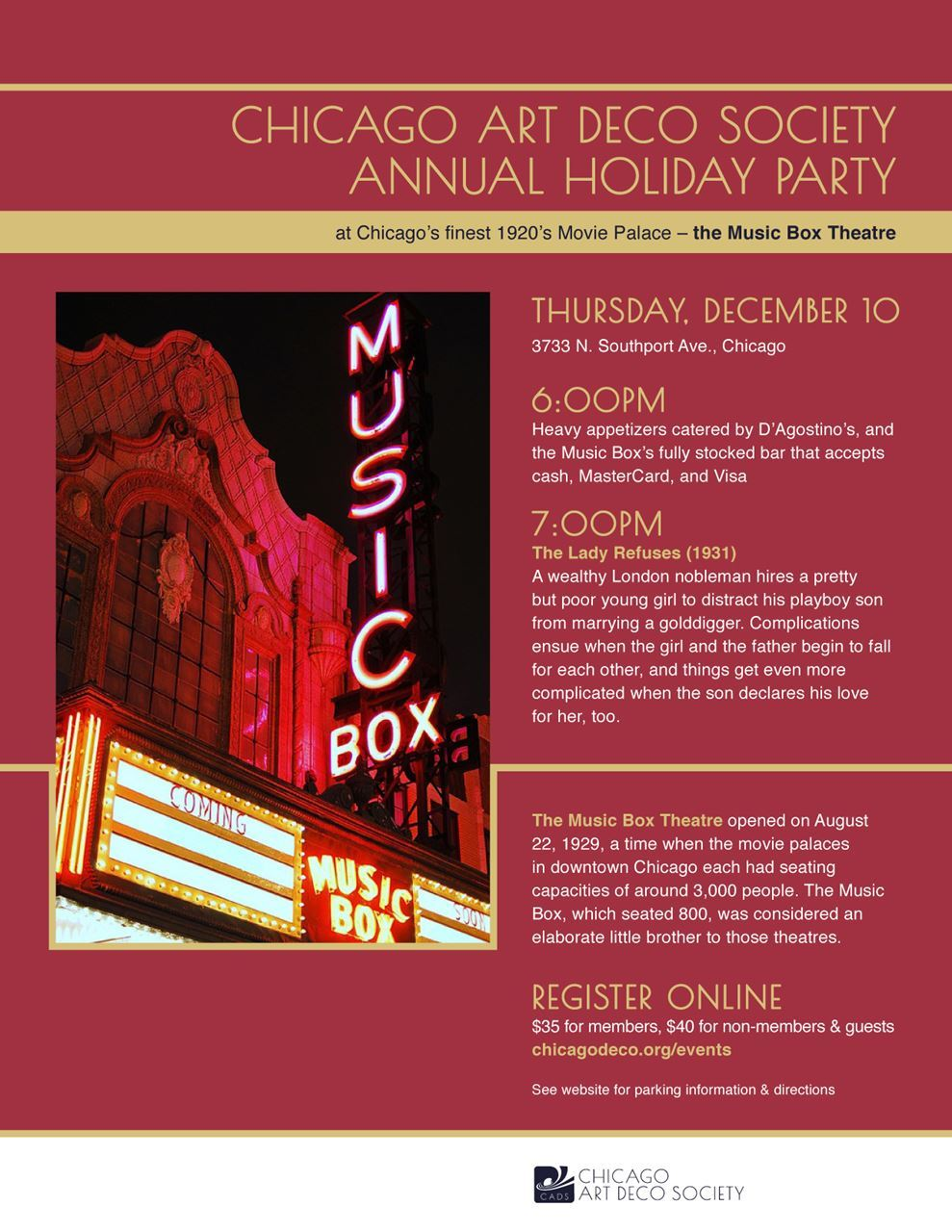 Chicago Art Deco Society Food Drinks And Frivolity Cads Annual
